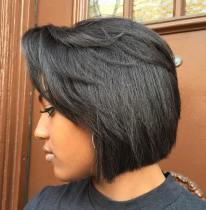 13 Black Bob With Side Bangs
